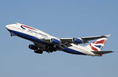 BA plane at take off