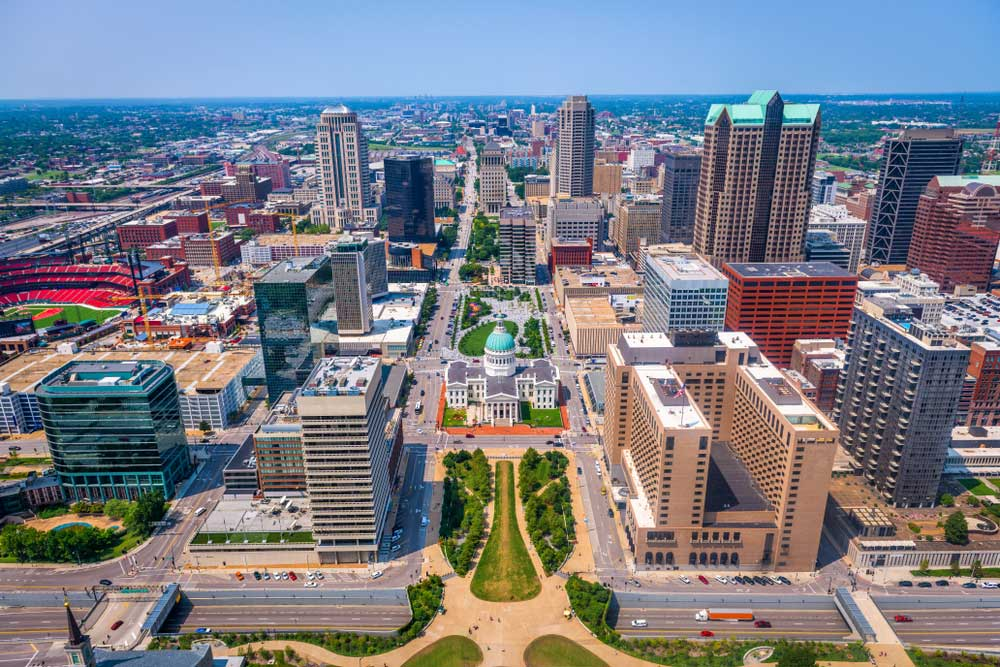St. Louis arial view